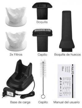 accesorios de una aspiradora de mano