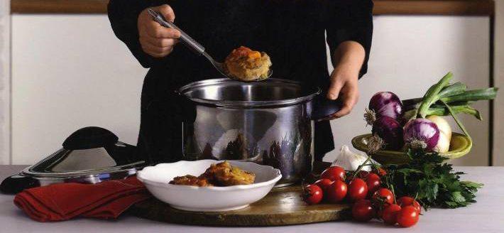 cocinando con olla a presion